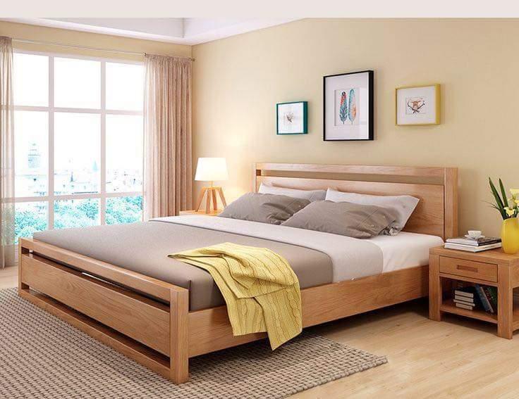 Giường gỗ tự nhiên - 03