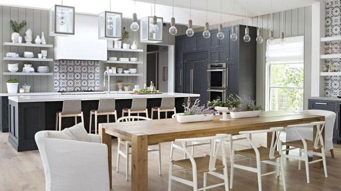 Thiết kế phòng bếp Hai thành phần quan trọng để thiết kế phòng bếp đẹp tiện nghi
