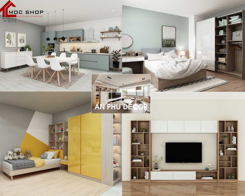 Mẫu thiết kế nội thất phòng ngủ đẹp, sang trọng, hiện đại và thông minh